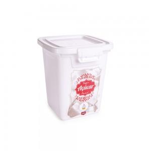 Imagem do produto - Pote de Plástico Retangular 1,8 L com Tampa Fixa e Trava Açucar