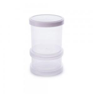 Imagem - Conjunto Organizador de Plástico Empilhável com Tampa Rosca 2 Unidades 008059-2978 Branco