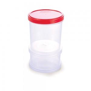 Imagem do produto - Conjunto Organizador de Plástico Empilhável com Tampa Rosca 2 Unidades
