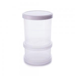 Imagem - Conjunto Organizador de Plástico Empilhável com Tampa Rosca 2 Unidades 008061-2983 Branco