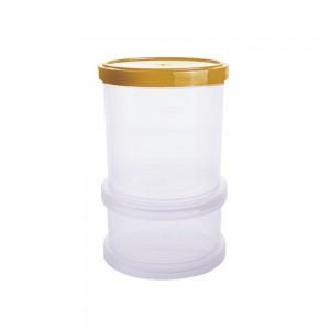 Imagem - Conjunto Organizador de Plástico Empilhável com Tampa Rosca 2 Unidades 008061-3546 Ouro Velho