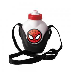 Imagem do produto - Cantil de Plástico 460 ml com Suporte e Alça Homem Aranha