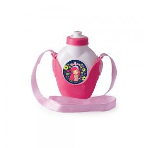 Imagem do produto - Cantil de Plástico 460 ml com Suporte e Alça Moranguinho