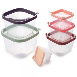 Imagem do produto - Conjunto de Potes de Plástico Quadrados Conect 6 unidades