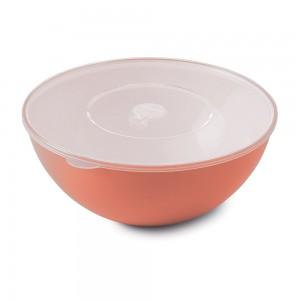 Imagem do produto - Tigela de Plástico 3,3 L com Tampa e Válvula Duo 360° Pêssego