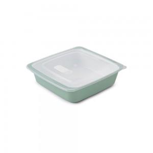 Imagem do produto - Travessa de Plástico Quadrada 1,25 L com Tampa e Válvula Duo 360° Verde