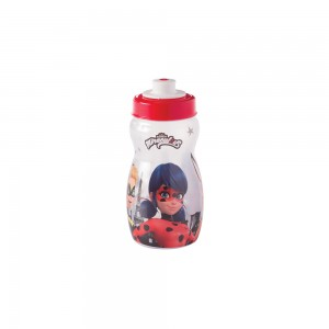 Imagem do produto - Garrafa Squeeze de Plástico 300 ml com Tampa Rosca Miraculous Ladybug