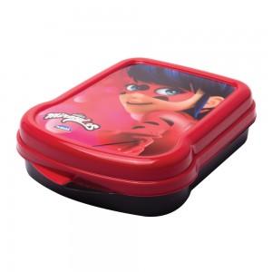 Imagem do produto - Sanduicheira de Plástico com Tampa Fixa Miraculous Ladybug