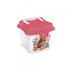 Imagem do produto - Caixa de Plástico 1 L com Tampa Fixa, Trava e Alça Moana