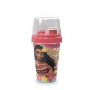 Imagem do produto - Mini Shakeira de Plástico 320 ml com Misturador, Fechamento Rosca e Sobretampa Articulável Moana