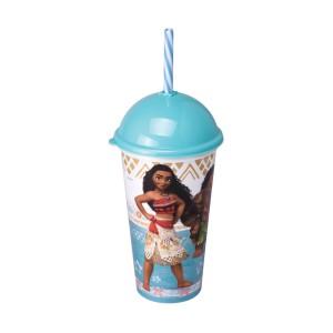 Imagem do produto - Copo Shake de Plástico 500 ml com Tampa e Canudo Moana