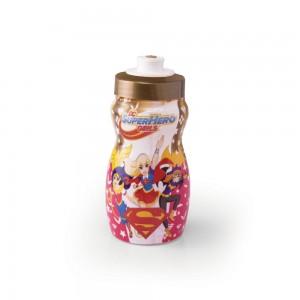 Imagem do produto - Garrafa Squeeze de Plástico 300 ml com Tampa Rosca Super Hero Girls