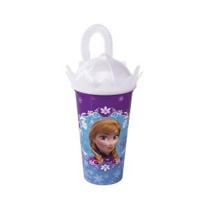 Imagem do produto - Copo Coroa com Canudo 500 ml | Frozen