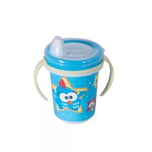 Imagem do produto - Caneca de Plástico 330 ml para Transição com Alça Removível e Fechamento Rosca  Galinha Pintadinha