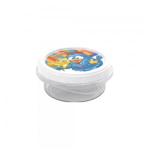 Imagem do produto - Pote de Plástico Redondo 390 ml Rosca Galinha Pintadinha