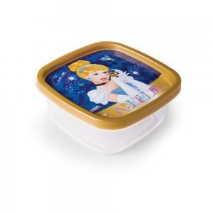 Imagem do produto - Pote de Plástico Quadrado 580 ml Clic Princesas Colecionáveis