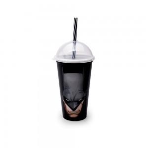 Imagem do produto - Copo Shake de Plástico 500 ml com Tampa e Canudo Batman
