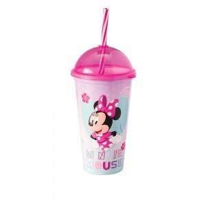 Imagem do produto - Copo Shake de Plástico 500 ml com Tampa e Canudo Minnie