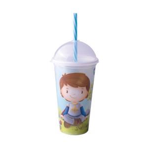 Imagem do produto - Copo Shake de Plástico 500 ml com Tampa e Canudo Oliver
