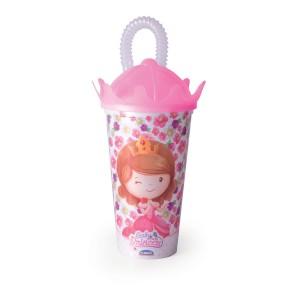 Imagem do produto - Copo Coroa com Canudo 500 ml   Baby Princess