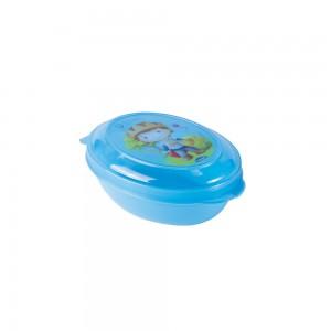 Imagem - Saboneteira de Plástico com Tampa Fixa Oliver 008290-2597 Azul