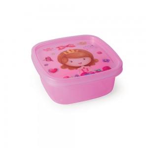 Imagem - Pote de Plástico Quadrado 580 ml Baby Princess  Clic 008296-2497 Rosa
