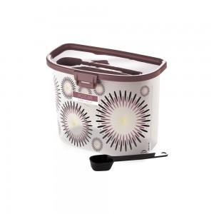 Imagem do produto - Pote de Plástico para Açúcar com Colher Trava e Tampa Fixa Café da Manhã Glamour
