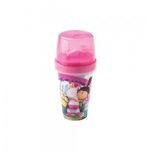 Imagem do produto - Mini Shakeira de Plástico 320 ml com Misturador, Fechamento Rosca e Sobretampa Articulável Meu Malvado Favorito Agnes