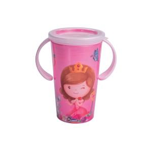 Imagem do produto - Copo de Plástico 280 ml para Transição com Alça  Baby Princess Magic
