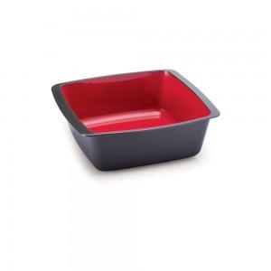 Imagem - Travessa de Plástico Retangular 520 ml sem Tampa Duo Chef 008331-3051 Vermelho