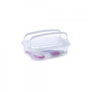Imagem do produto - Caixa de Plástico Retangular Organizadora 1,5 L com Tampa, Travas Laterais e Alça Gran Box