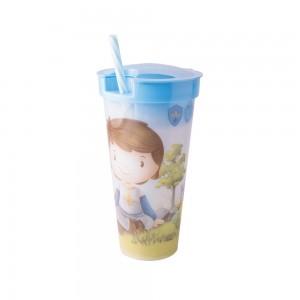 Imagem do produto - Copo de Plástico 540 ml com Compartimento e Canudo Oliver