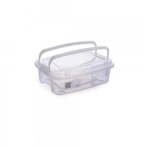 Imagem do produto - Caixa de Plástico Retangular Organizadora 850 ml com Tampa, Travas Laterais e Alça Gran Box