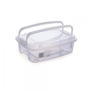 Imagem do produto - Caixa de Plástico Retangular Organizadora 3,12 L com Tampa, Travas Laterais e Alça Gran Box