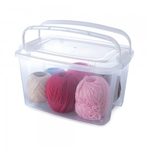 Imagem do produto - Caixa de Plástico Retangular Organizadora 6,2 L com Tampa, Travas Laterais e Alça Gran Box