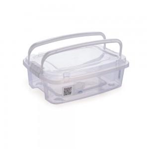 Imagem do produto - Caixa de Plástico Retangular Organizadora 5,48 L com Tampa, Travas Laterais e Alça Gran Box