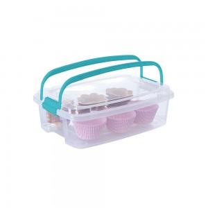 Imagem do produto - Caixa de Plástico Retangular Organizadora 5 L com Tampa, Travas Laterais e Alça Gran Box