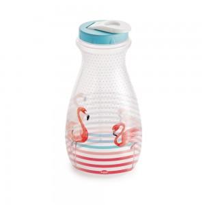 Imagem do produto - Garrafa de Plástico 1,9 L com Tampa Rosca e Sobretampa Flamingo