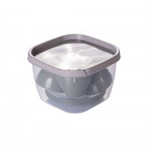 Imagem do produto - Conjunto de Xícaras de Plástico de Café 100 ml com Pires e Pote Duo 360° 4 uniddaes