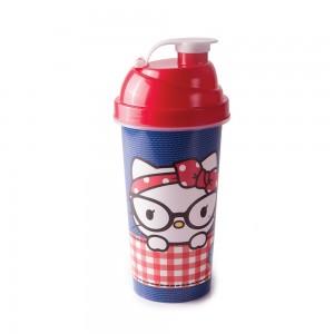 Imagem do produto - Shakeira de Plástico 580 ml com Tampa Rosca e Misturador Hello Kitty