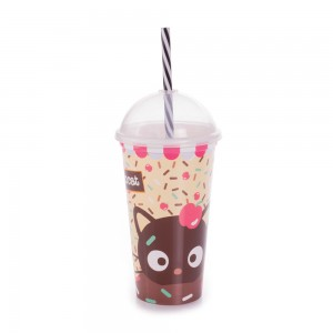 Imagem do produto - Copo Shake de Plástico 500 ml com Tampa e Canudo Chococat