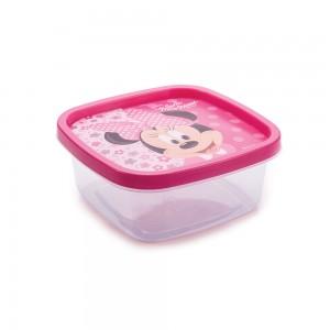 Imagem do produto - Pote de Plástico Quadrado 580 ml Clic Minnie
