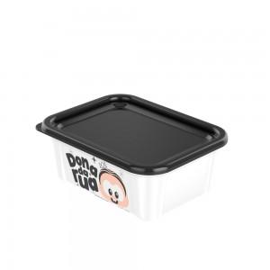 Imagem do produto - Pote de Plástico Retangular 200 ml com Tampa Fixa Duo Mônica Toy