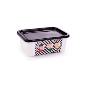 Imagem do produto - Pote de Plástico Retangular 400 ml com Tampa Fixa Duo Turma da Mônica