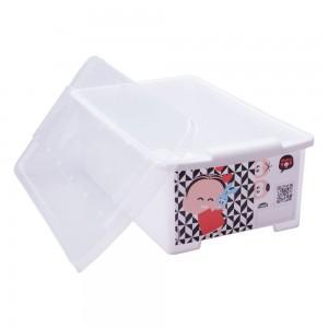 Imagem do produto - Caixa de Plástico Retangular Organizadora 6 L com Tampa Empilhável Média Turma da Mônica