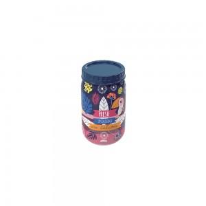 Imagem do produto - Pote de Plástico Redondo 570 ml com Tampa Rosca Tropical