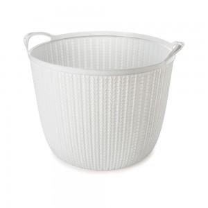 Imagem do produto - Cesta de Plástico Redonda 25,5 L com Alças Trama