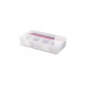 Imagem do produto - Caixa de Plástico Organizadora com 5 Divisórias Internas Trava e Tampa Fixa