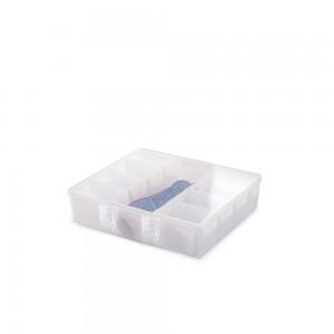 Imagem do produto - Caixa de Plástico Organizadora com 9 Divisórias Internas, Trava e Tampa Fixa