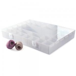 Imagem do produto - Caixa de Plástico Organizadora com 33 Divisórias Internas, Trava e Tampa Fixa